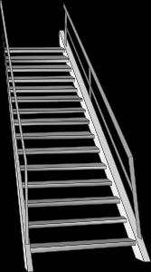 Schema einer TReppe, Treppenformel