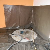 runder deckendurchbruch zum einbau einer treppe. Black Bedroom Furniture Sets. Home Design Ideas